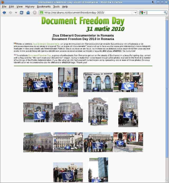 ziua eliberarii documentelor/document freedom day