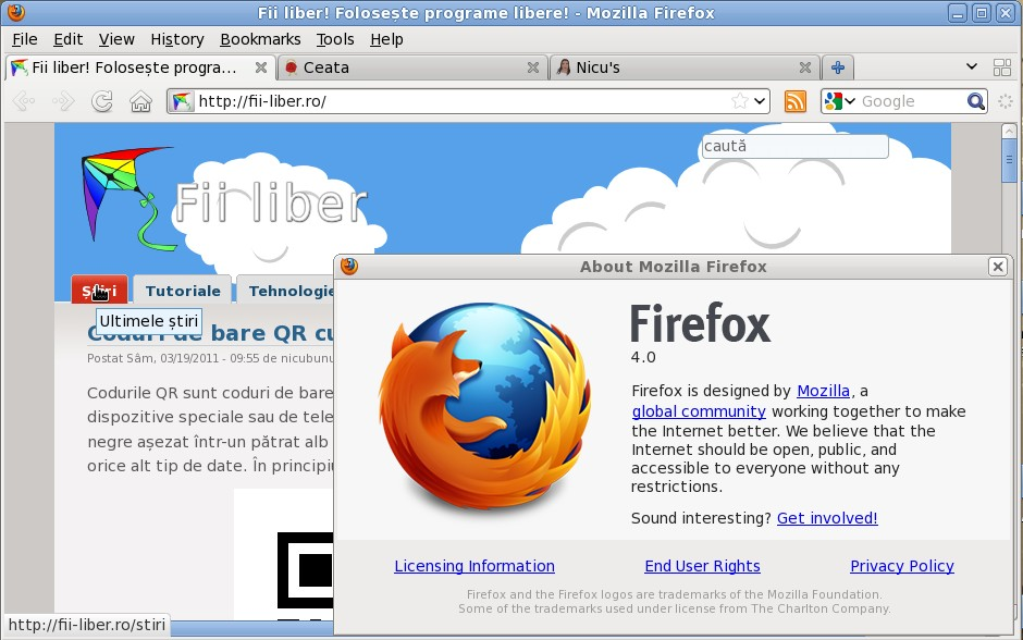 firefox 4 - captura de ecran