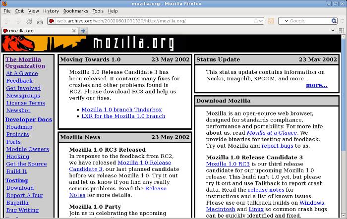 mozilla design history