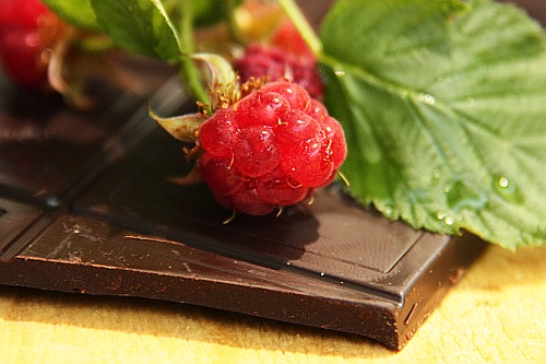Raspberries and Dark Chocolate