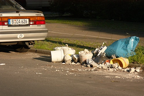 Street garbage in Berlin