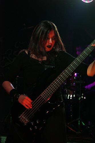 Goth girl guitar player