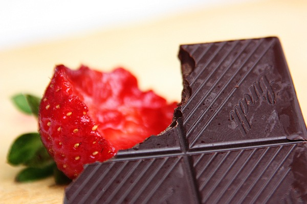 Simple food: strawberry and chocolate