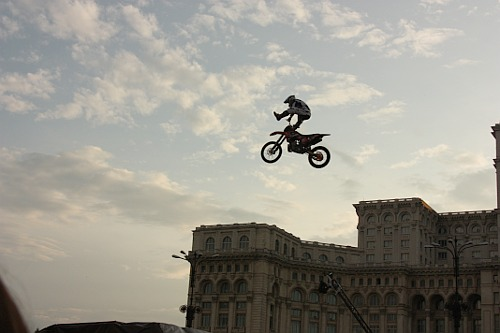 RedBull X-Fighters show in Bucharest