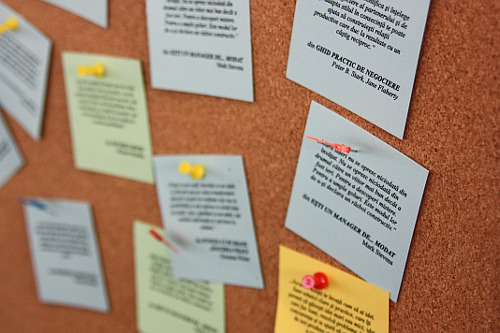 Corkboard with Post-it Notes
