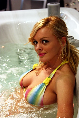 Hot Tub Bikini Blonde at the Luxury Show