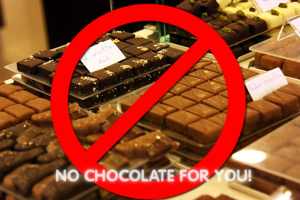 no chocolate
