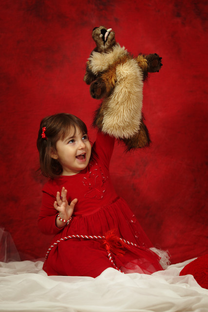 Girl in red and the wolf
