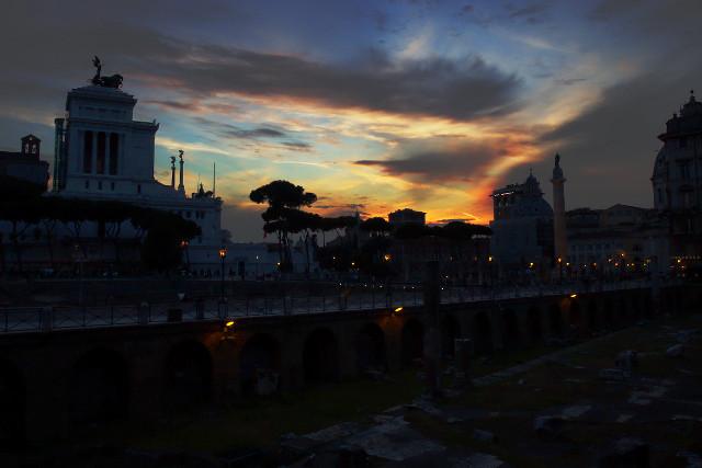 Sunset with column