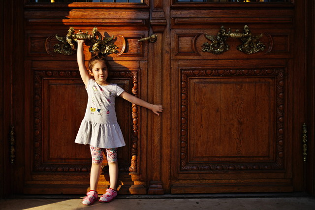 Girl and Doors