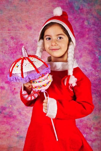 Sweet little Miss Santa