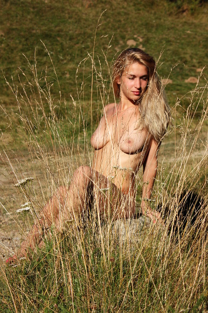 from the grass