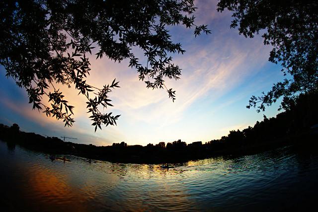 First summer sunset