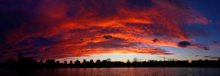 after sunset panorama