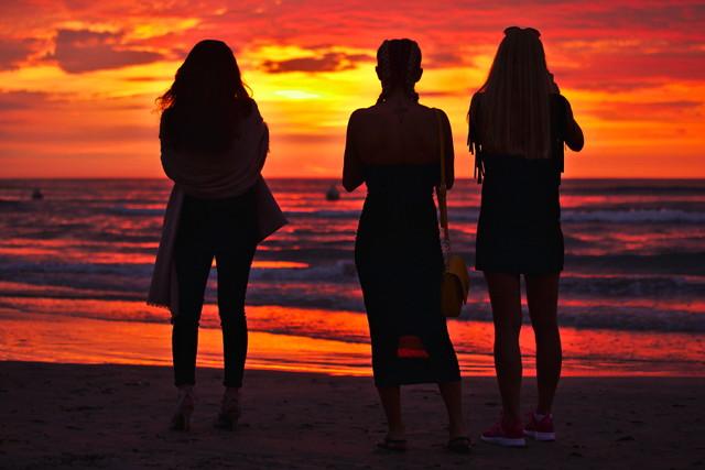 Three on the beach