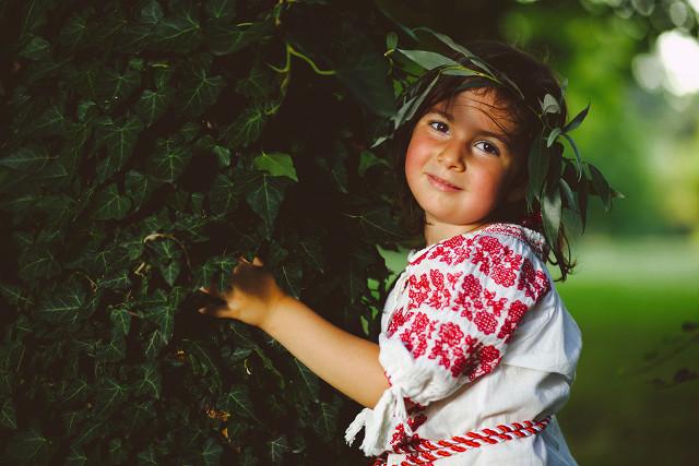 Little peasant girl