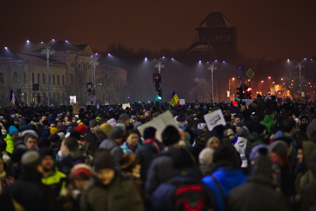 Anti-corruption protest in Bucharest