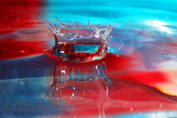 macro water drops