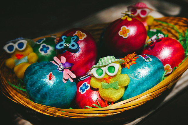 My painted eggs