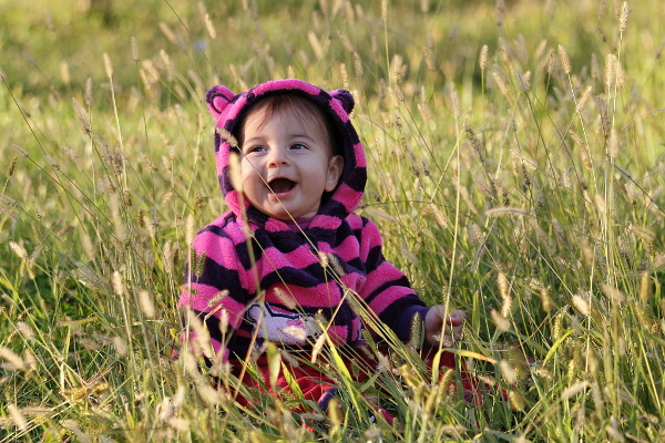baby in the grass