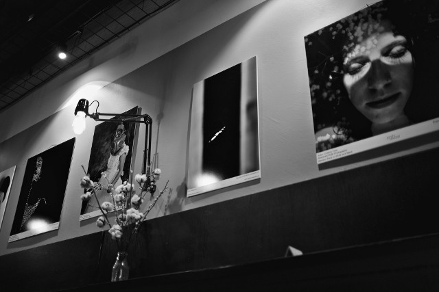 Exhibiting portraits in black and white