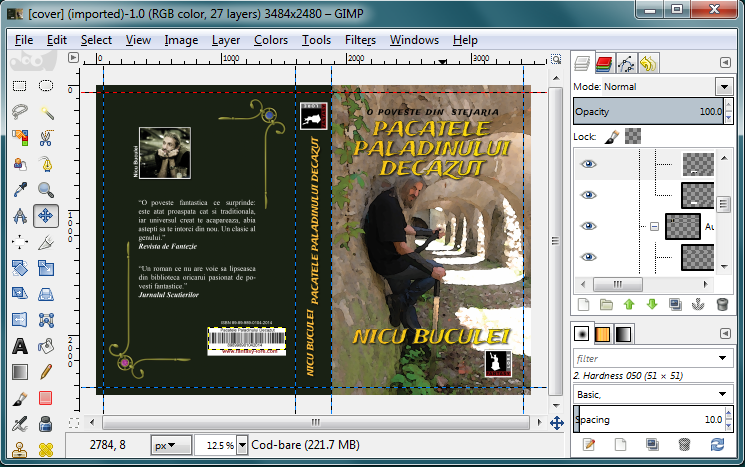 How To Make A Book Cover Using Gimp : Nicu s foss n stuff photoshop versus gimp the empire